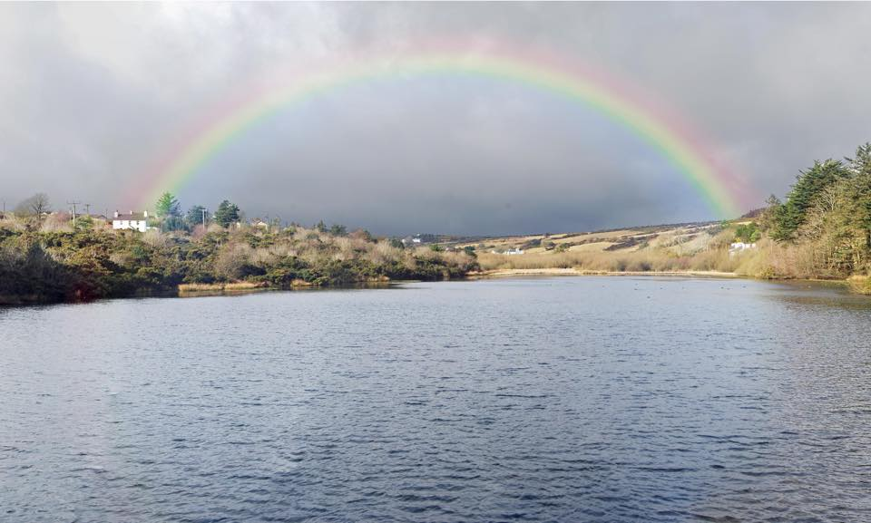 the lake under the rainbow